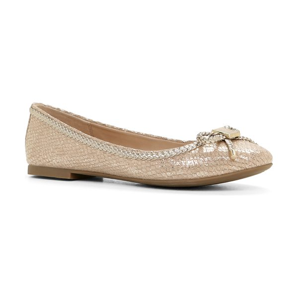 ALDO Narerien flats in metallic - This classis ballet flat is a great pairing this season...
