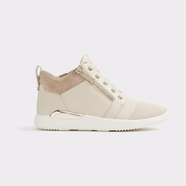 ALDO Naven in bone - A cool street sport sneaker all dressed up in metal...
