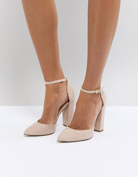 c787793d0b75 ALDO nicholes beige ankle strap high heeled pointed shoe in nude - Heels by  ALDO