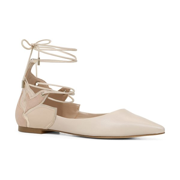 ALDO Nitis - A stylish point-toe flat with crisscross ties that...
