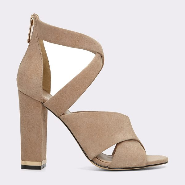 ALDO Nydaen in beige - Pump up your style with a strappy design and a block...