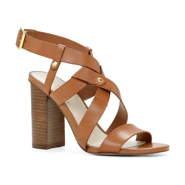 ALDO Okelani sandals in cognac - Slingback strap. - Single sole. - Almond toe. - Open...