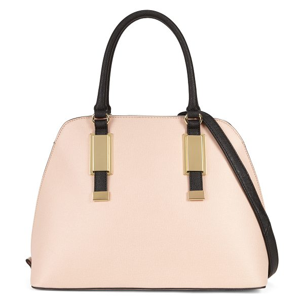 ALDO Outline tote in pink/purple - A retro silhouette makes this satchel the perfect...