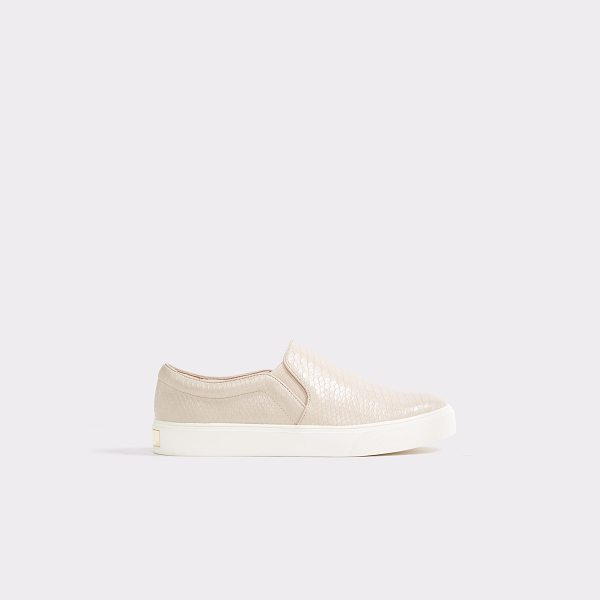 ALDO Perine in bone - A cool street sport plimsoll sneaker covered in faux...