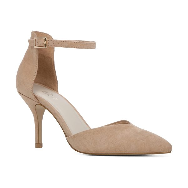 ALDO Pietranta in bone - An elegant d'Orsay pump with an ankle-framing strap and...