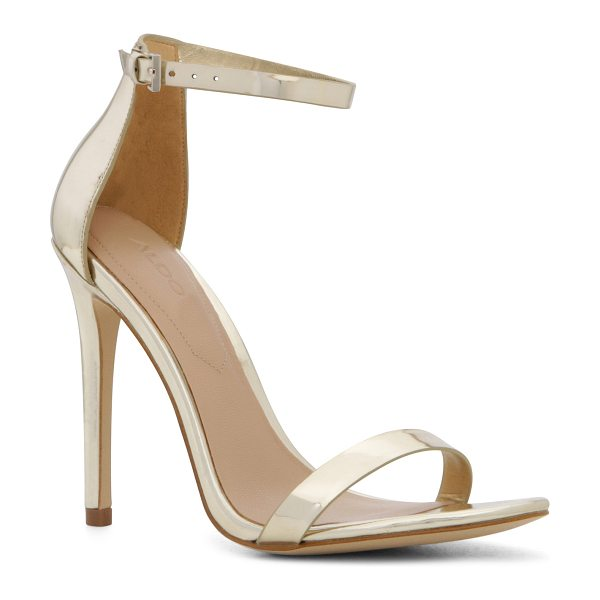 ALDO Polesia in gold - Simple-made-sexy sandal lends understated elegance....