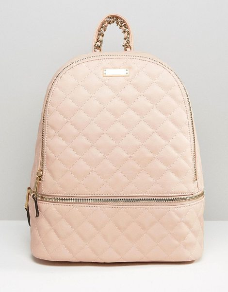 ALDO Quilted backpack in blush in blush