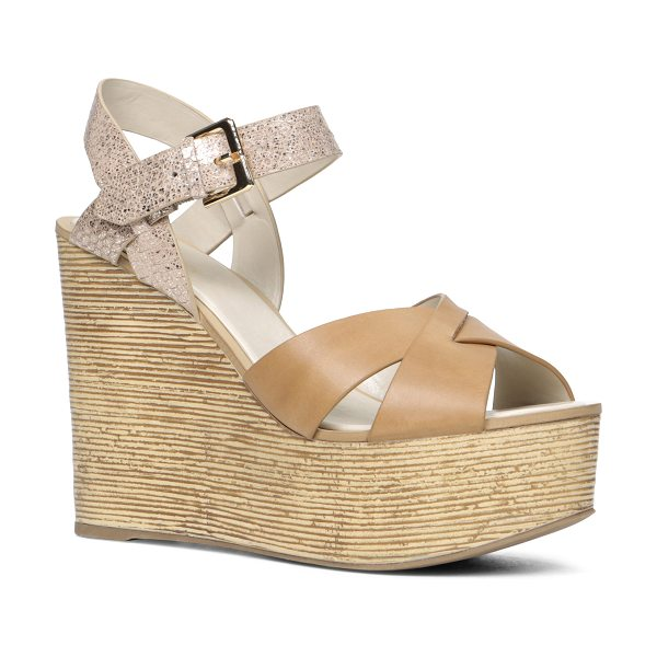 ALDO Regnano sandals in cognac - Be the center of attention with these gorgeous wedge...