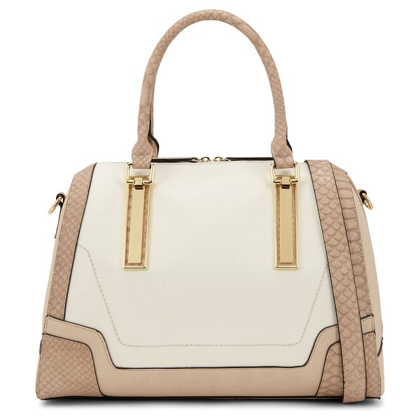 ALDO Resse tote in white/cream - Satchel Bag. - Top Zipper. - Metal detail. - Textile...