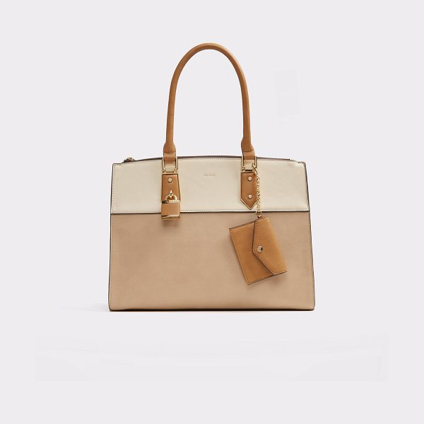 ALDO Retriever in camel - Structured large tote with ample interior space and lock...