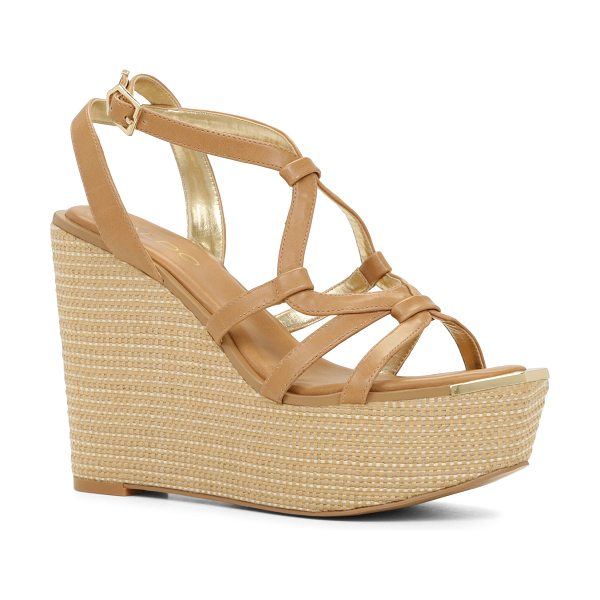 ALDO Rhona in camel - You'll make quite an entrance with these stunning wedge...