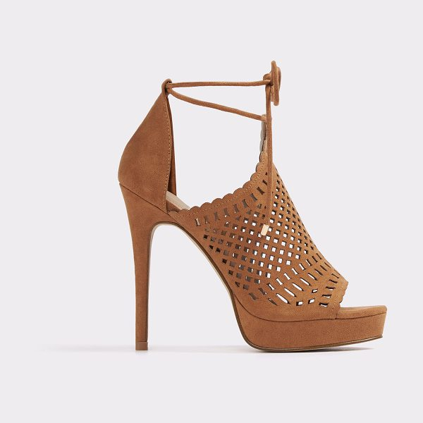 ALDO Rilley in cognac - Boho meets bombshell in this strappy platform sandal....