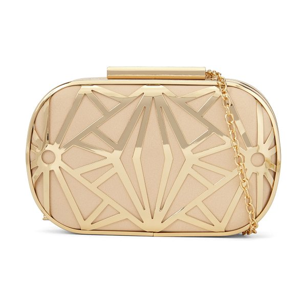 ALDO Rinon clutch in bone - Gorgeously gilded with a removable chain strap-this...
