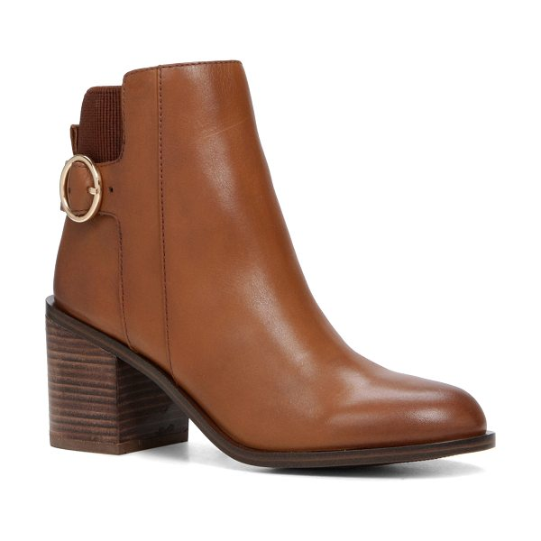 ALDO Rosaldee in cognac - Stomp out in style. This is the pull-on booties you...