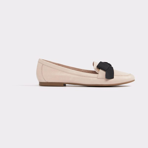 ALDO Rosolen in light pink - A polished slip-on leather loafer features cushioned...