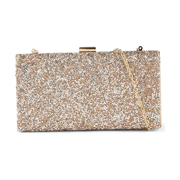 ALDO Sagronmis clutch in metallic - If you're dressing up for a night out on the town, this...
