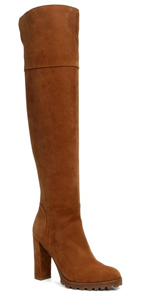 ALDO Sambuca in cognac - Meet your new go-to heel: the thigh-high. Wear over your...