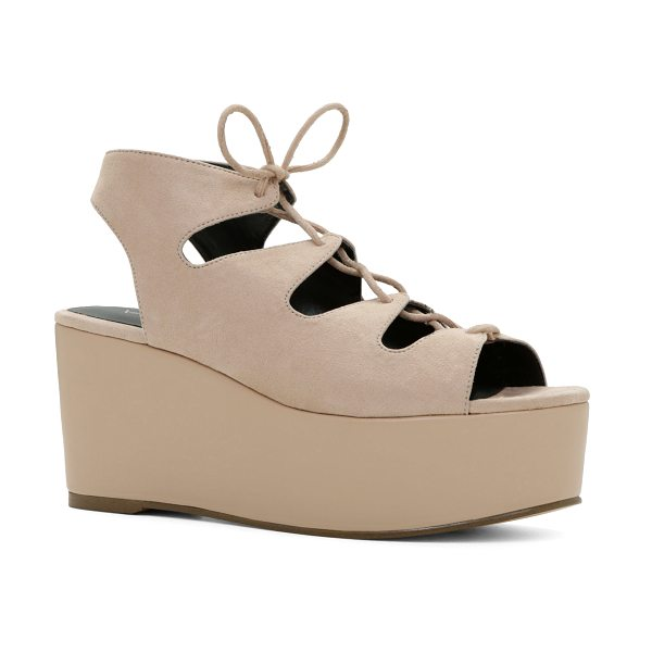 ALDO Sampaio sandals in bone - Multi-strap ankle wrap. - Flatform. - Round toe. - Open...