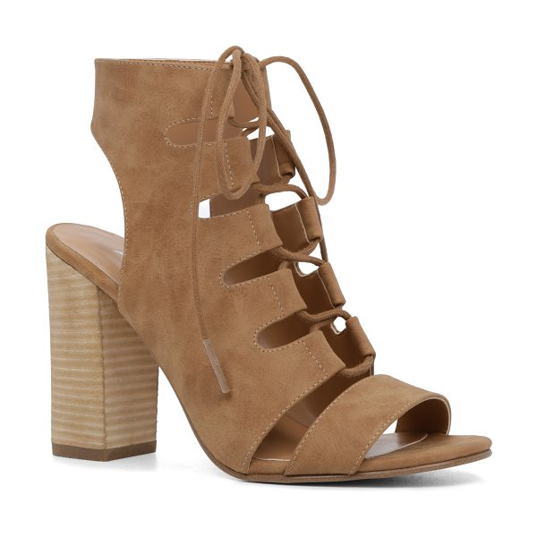 ALDO Seviralla in camel - Warm-weather booties keep cool courtesy of perforated...