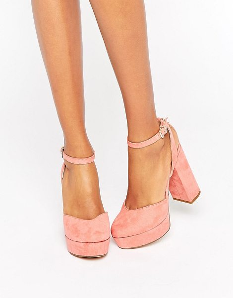 ALDO Shery Ankle Strap Platform Heeled Shoes in pink - Shoes by ALDO, Textile upper, Ankle-strap fastening,...