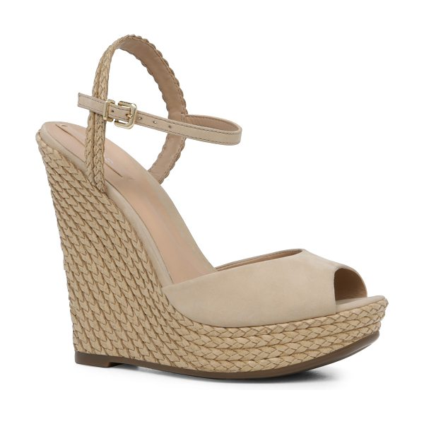 ALDO Shizuko in bone - A tisket a tasket, this wedge sandal was inspired by a...