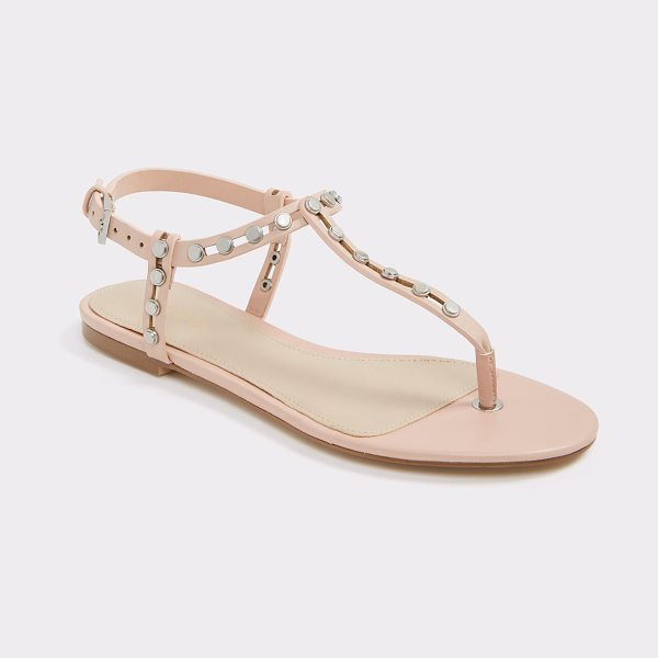 ALDO Starda in light pink - Rock steady-these studded thong sandals feature...
