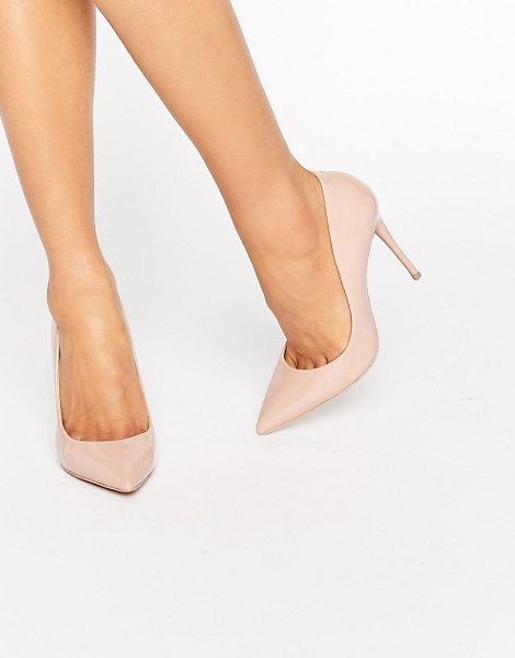 ALDO Stessy Nude Point Pumps in beige - Shoes by ALDO, Faux leather upper, Patent finish,...