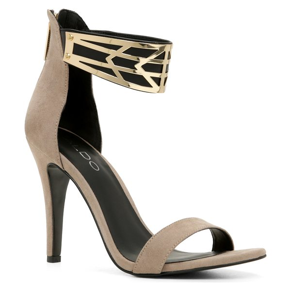 ALDO Tormini in taupe - Make a bold step with these roaring ankle-strap sandals!...