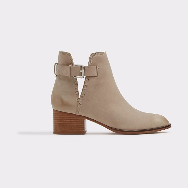 ALDO Ultra in bone nubuck - Our Nubuck boot with thick block heel is the ultimate...
