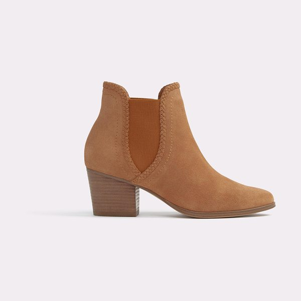 ALDO Velirien in cognac - A classic western pull-on ankle boot made modern with...