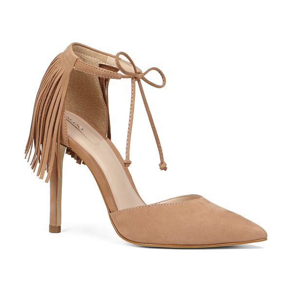 ALDO Venosta in cognac - Fringe details amplify the oomph quotient on our new...