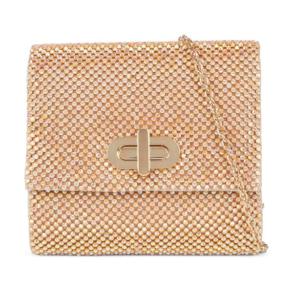ALDO Vine clutch in gold - Featuring a turn lock closure and dazzling rhinestone...