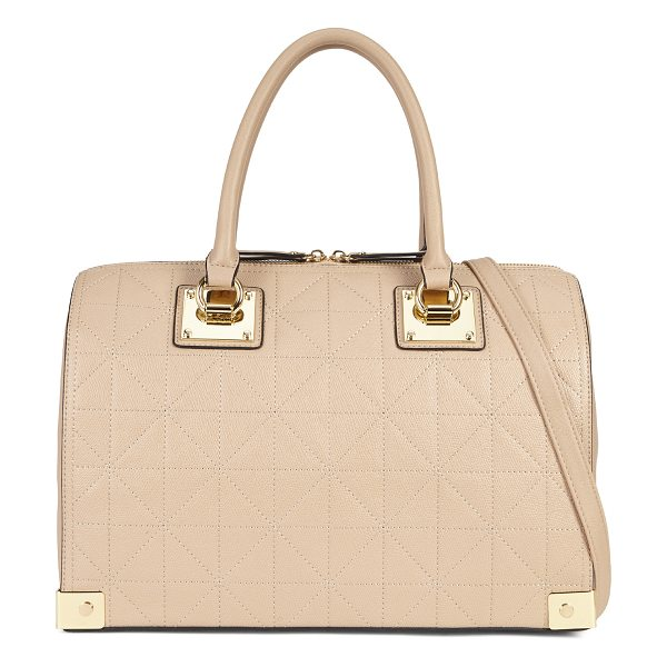 ALDO Wall - A tonal geo pattern and polished hardware lend casual...