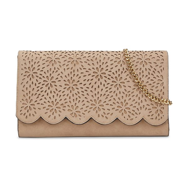 ALDO Warwick clutch in bone - A dimensional cutout upper gives this sleek evening...