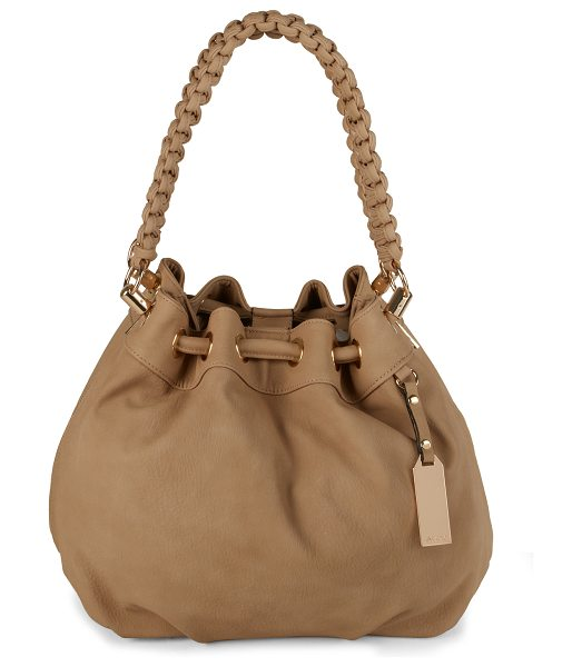 ALDO Whitepine shoulder bag in beige/taupe - Satchel Bag. - Drawstring Closure. - Metal detail. -...