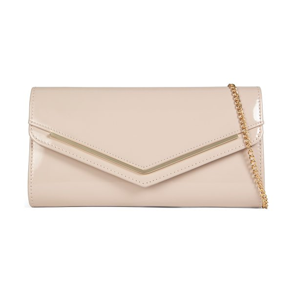 ALDO Windom in bone - Sleek, glossy and chic: this evening clutch featuring a...