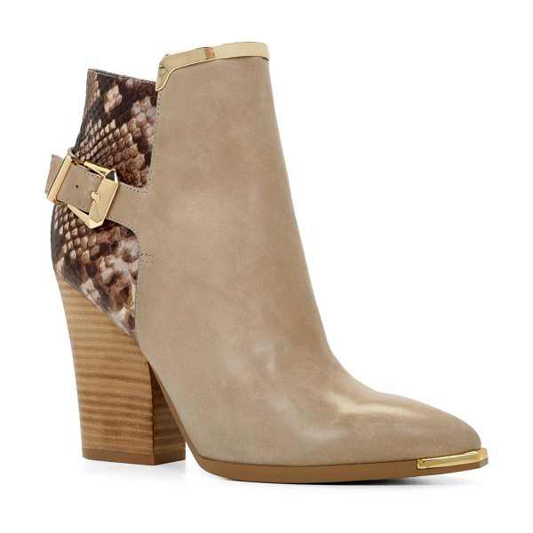 ALDO Yolandah boots in bone misc. - The gold metal accents add the finishing touch to these...