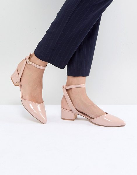 ALDO Zewiel Low Heel Pointed Shoes in nude - Heels by ALDO, High-shine patent finish, We re all about...