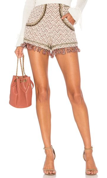"ale by alessandra Daniela Shorts in pink - ""Self: 65% cotton 35% polyContrast: 100% poly. Dry clean..."
