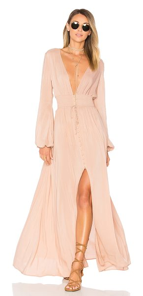 ale by alessandra x REVOLVE Eduarda Maxi Dress in nude - Feeling kind with a wild heart and a strong sense of...