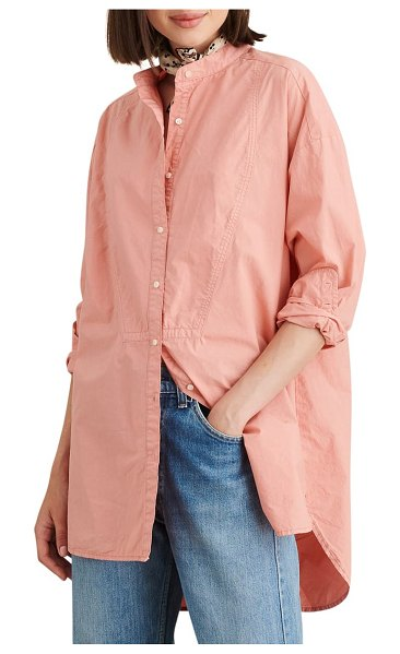 ALEX MILL tunic shirt in coral