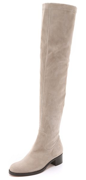 ALEXA WAGNER Roxanne suede boots in elephant - These over the knee Alexa Wagner boots are made from...