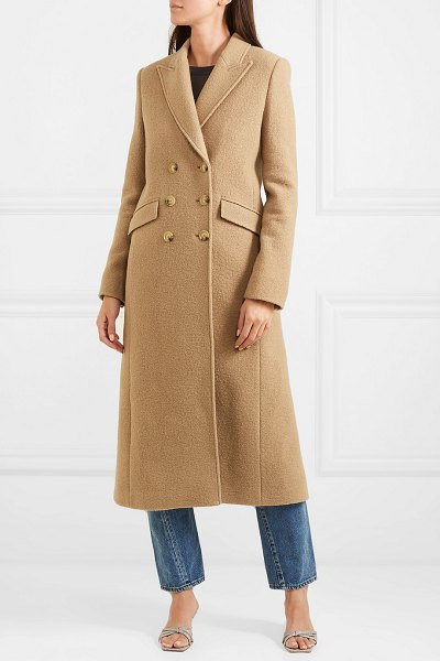 ALEXACHUNG double-breasted boiled wool coat in camel
