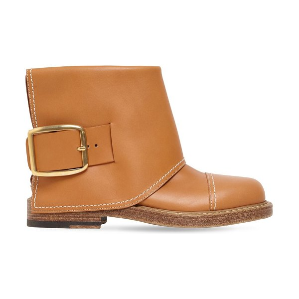 Alexander McQueen 20mm leather ankle boots in tan