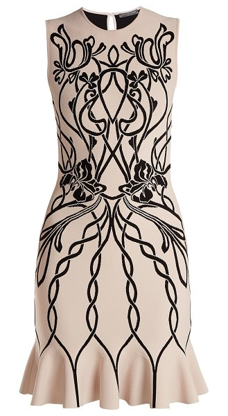 Alexander McQueen Alexander Mcqueen - Art Nouveau Intarsia Sleeveless Dress in pink multi - Alexander McQueen - Shaped to a flattering fit-and-flare...
