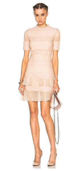 Alexander McQueen Bandage Mini Dress in pink,metallics - Self: 69% silk 31% poly - Lining: 100% viscose.  Made in...