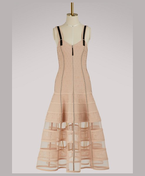 Alexander McQueen Bustier dress in 5749 - petal/black - This bustier dress embodies the irreverent touch of...