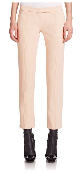 Alexander McQueen Compact slim-leg trousers in beige - Subtle seaming details structure these tailored slim-leg...