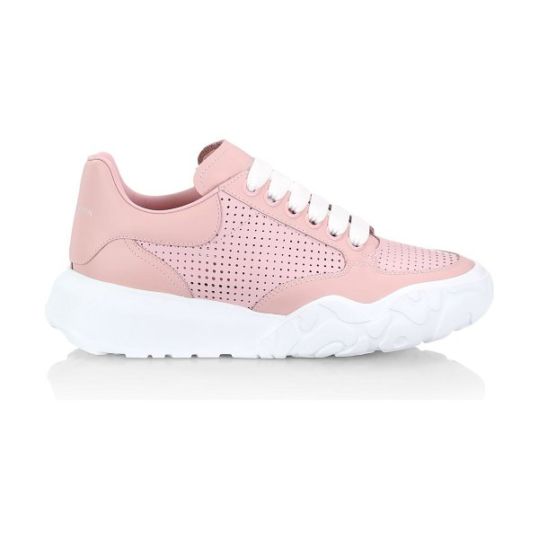Alexander McQueen court leather sneakers in rose gold