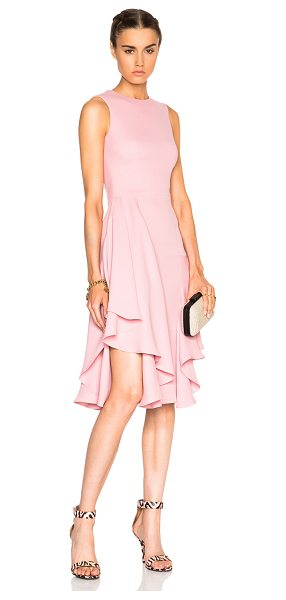 Alexander McQueen Drape Pencil Dress in pink - 100% silk.  Made in Italy.  Fully lined.  Hidden back...